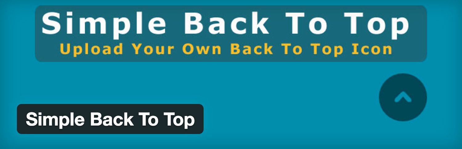 Simple Back To Top