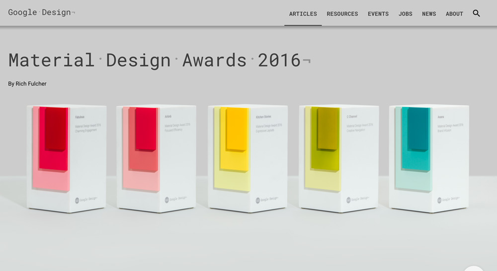 Material Design Awards 2016 by Google