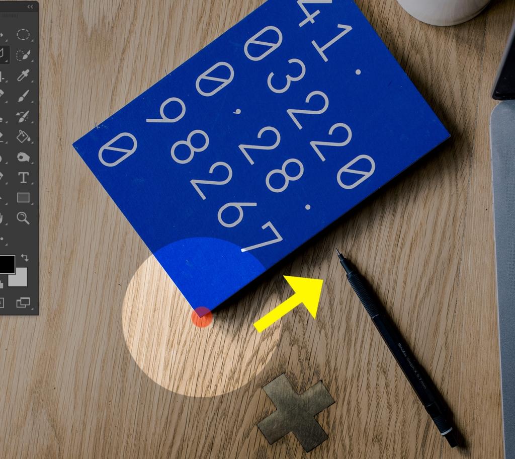 多角形選択ツールを選択し、基点でクリックします。