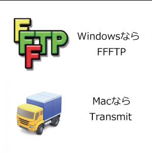 FTPソフトでファイルをサーバーにアップする
