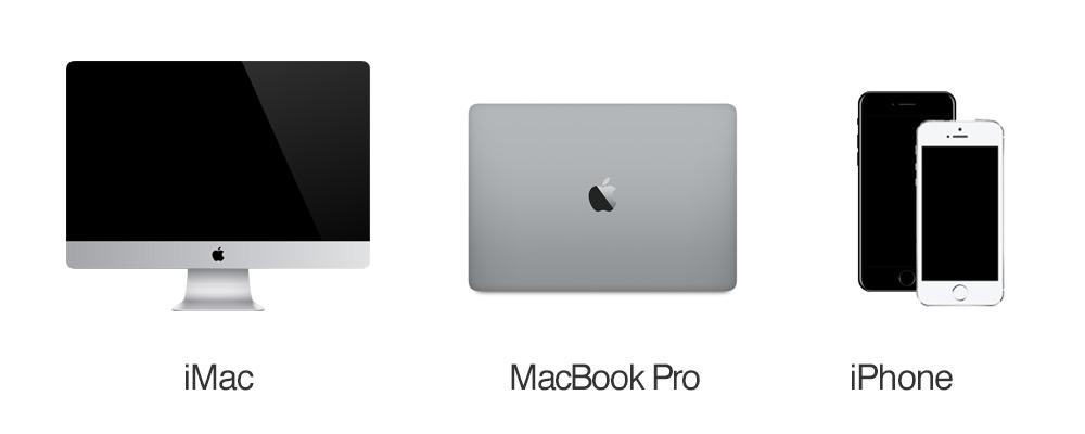 iMac MacBook Pro iPhone